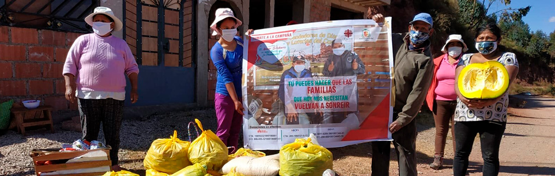 ARZOBISPADO DEL CUSCO ENTREGÓ A 937 FAMILIAS DONACIONES RECIBIDAS DEL MERCADO MAYORISTA VINOCANCHON