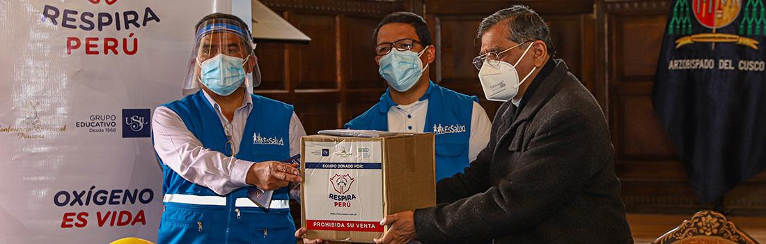 CAMPAÑA RESPIRA PERÚ: CONFERENCIA EPISCOPAL PERUANA DONA 30 VENTILADORES MECÁNICOS PARA HOSPITALES DE CUSCO