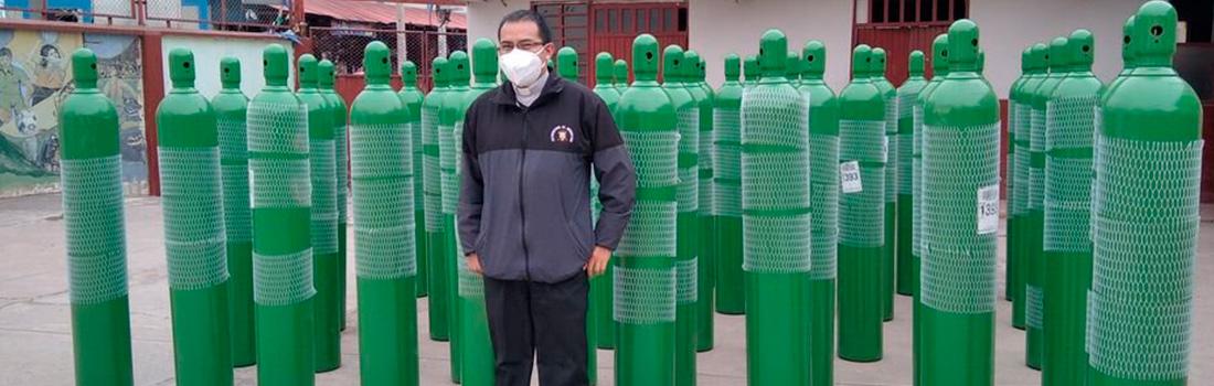 "COMUNIDAD PARROQUIAL DE URUBAMBA COMPRÓ 50 BALONES DE OXÍGENO GRACIAS A CAMPAÑA ""RESPIRA URUBAMBA"""